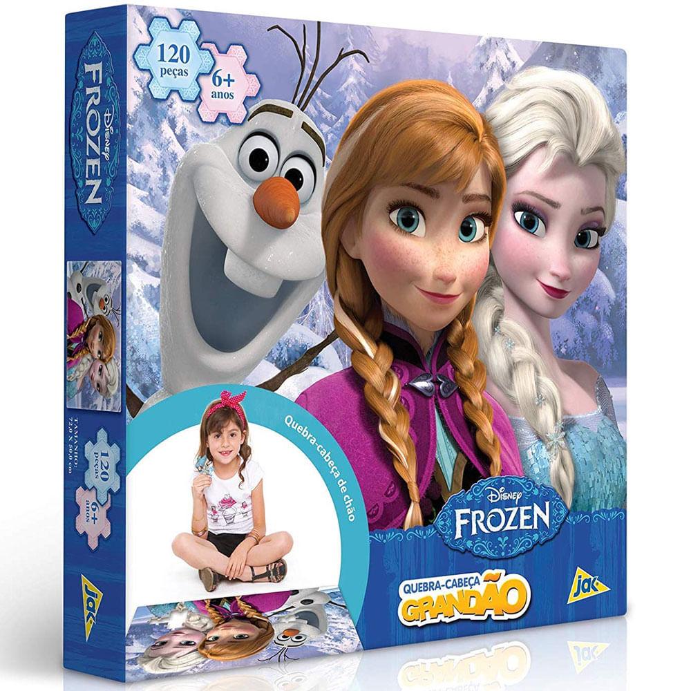 Quebra-Cabeça Grandão - 120 Peças - Disney - Frozen - Toyster