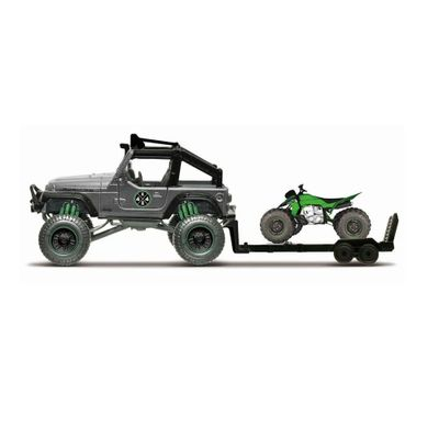 Mini-Veiculo---Die-Cast---Fresh-Metal---4x4-Rebels---Jeep-Wrangler-Rubicon-With-ATV---Maisto
