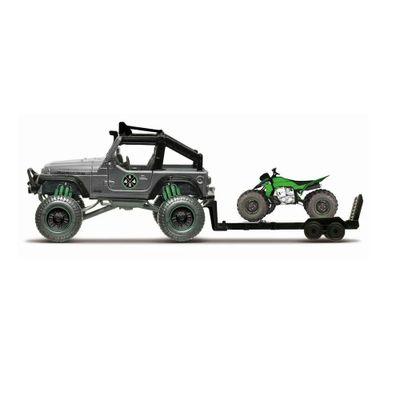 Mini-Veiculo---Die-Cast---Fresh-Metal---4x4-Rebels---Jeep-Wrangler-Rubicon-With-ATV---Maisto