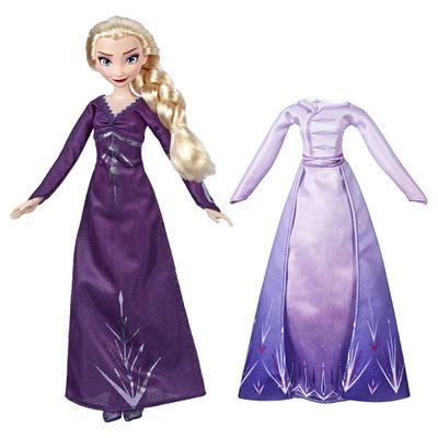 Boneca-Articulada---Disney---Frozen-2---Troca-de-Roupa---Elsa---Hasbro