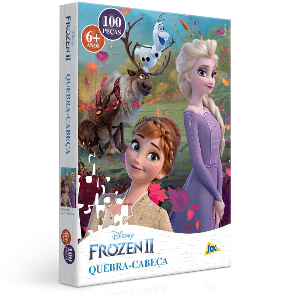 Quebra-Cabeça - 100 Peças - Disney - Frozen 2 - Elsa e Anna - Toyster