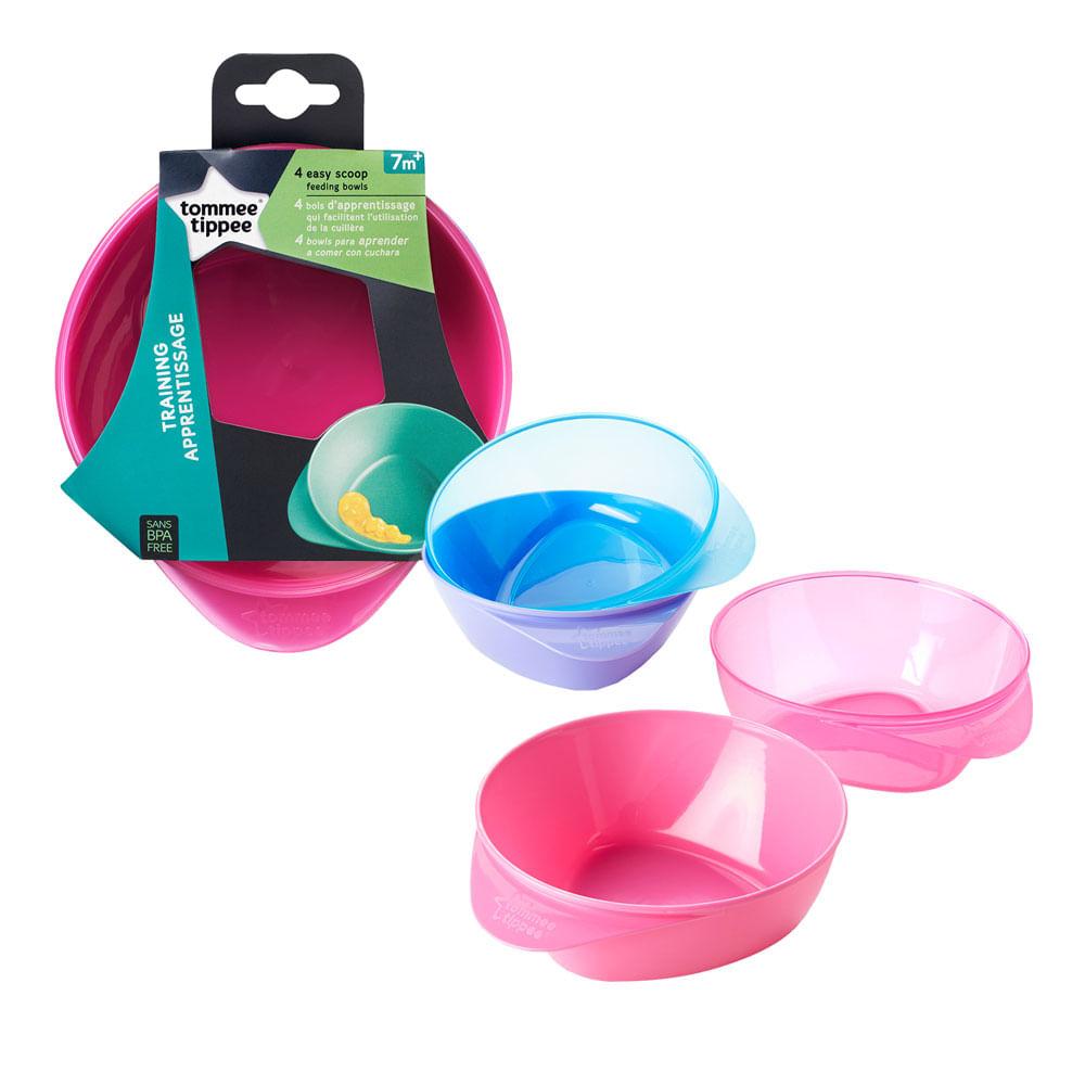 Conjunto de Bowls - Easy Scoop - 4 Peças - Rosa - Tommee Tippee