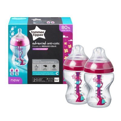 conjunto-de-mamadeiras-advanced-anti-colica-260ml-tommee-tippee-rosa-2-pecas-multikids-522818_Frente