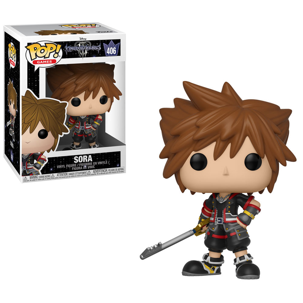 Figura Colecionável - Funko Pop - Disney - Kingdom Hearts 3 - Sora - Funko