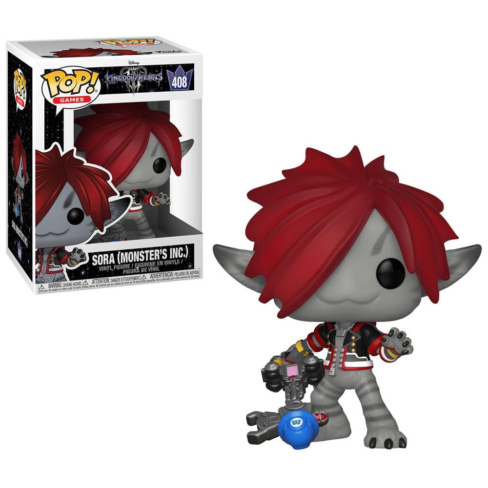 Figura Colecionável - Funko Pop - Disney - Kingdom Hearts 3 - Sora - Monstros SA - Funko
