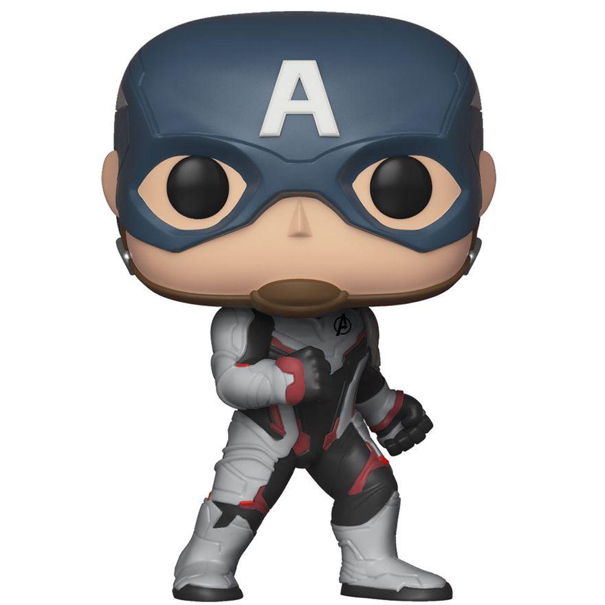 Figura-Colecionavel---Funko-Pop---Disney---Marvel---Vingadores---Ultimato---Capitao-America---Funko