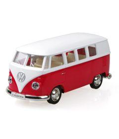 Mini-Veiculo---1-32---Hot-Wheels-com-Luzes-e-Sons---Volkswagen-Kombi---Vermelho-e-Branco---California-Toys