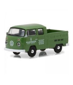 Mini-Veiculo-Collectibles64---Escala-1-64---1977-Volkswagen-Type-2---Double-Cab---Pick-Up---Verde---California-Toys