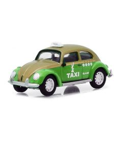 Mini-Veiculo-Collectibles64---Escala-1-64---Volkswagen-Beetle---Taxi-Cab---Verde---California-Toys