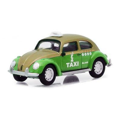 Mini-Veiculo-Collectibles64---Escala-1-64---Volkswagen-Beetle---Taxi-Cab---Verde---California-Toys