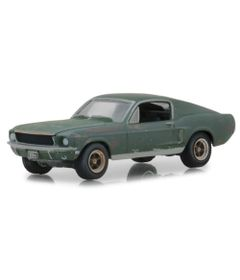 Mini-Veiculo---Die-Cast---1-64---Unrestored-1968---Ford-Mustang-GT-Fastback---Greenlight---California-Toys