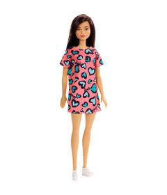 Boneca-Barbie---Fashion-And-Beauty---Morena-com-Vestido-Salmao-de-Coracoes---Mattel_Frente