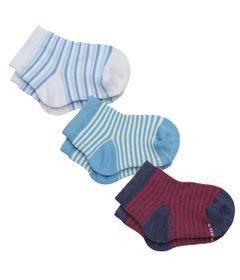 conjunto-de-meias-3-unidades-listradas-branca-azul-e-vermelho-lupo-tam-5-02000-089-0942_frente