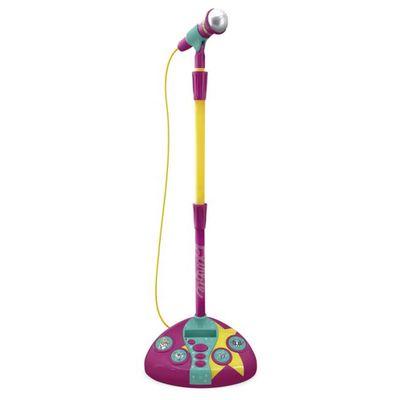 Microfone-com-Base---Barbie---Karaoke---Microfone-Fabuloso---Roxo-e-Amarelo---Fun_Frente
