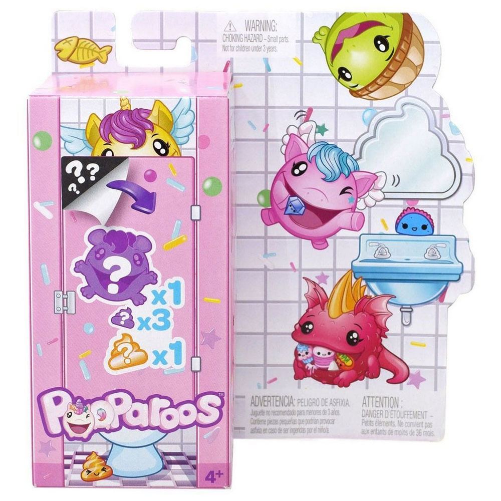 Mini Figuras Surpresas - Pooparoos - Figura e Comidinha - Mattel