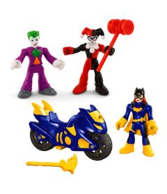 Kit-de-Mini-Bonecos---7Cm---Imaginext-DC-Comics---Super-Amigos---Batgirl-Coringa-e-Arlequina---Fisher-Price