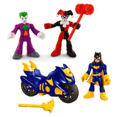 Kit-de-Mini-Bonecos---7Cm---Imaginext-DC-Comics---Super-Amigos---Batgirl-Coringa-e-Arlequina---Fisher-Price