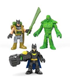 Kit-de-Mini-Bonecos---7Cm---Imaginext-DC-Comics---Super-Amigos---Batman-e-Monstro-do-Pantano---Fisher-Price