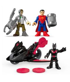 Kit-de-Mini-Bonecos---7Cm---Imaginext-DC-Comics---Super-Amigos---Batman-Superman-e-Metallo---Fisher-Price
