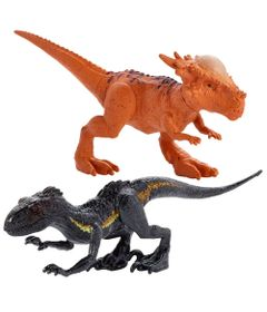 Kit-de-Mini-Figuras---7Cm---Imaginext---Jurassic-World---Indominus-Rex-e-Paquicefalossauro---Fisher-Price