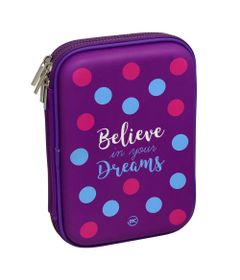 estojo-case-duplo-21x14-cm-roxo-believe-in-your-dreams-dac-E202_Frente