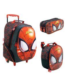 Kit-Escolar---Mala-com-Rodinhas-Lancheira-e-Estojo---Disney---Marvel---Spider-Man---Mask---Xeryus
