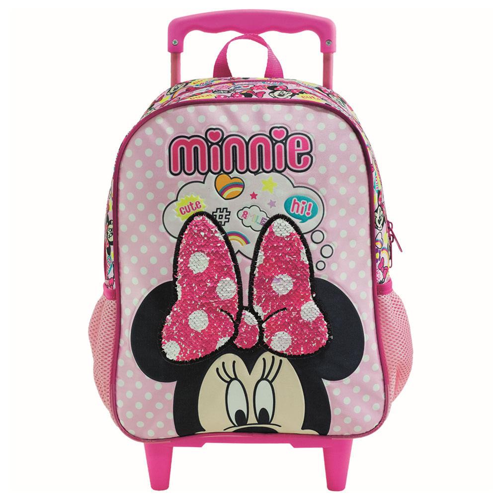 Mala com Rodinhas - Nº 14 - 27x35 Cm - Disney - Minnie Mouse - Xeryus