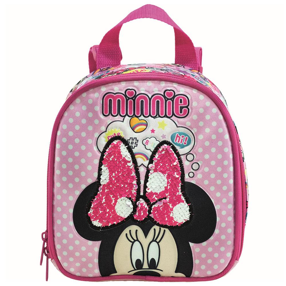Lancheira com Alça - 21x19 Cm - Disney - Minnie Mouse - Xeryus