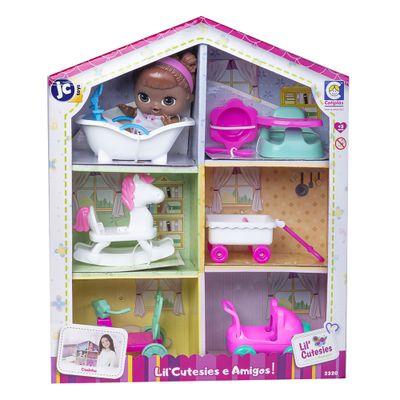 Mini-Boneca---18Cm---Lil--Cutesies---Negra---Casinha---Cotiplas_Frente