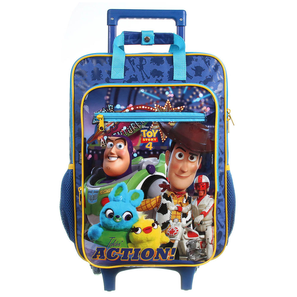 Mochila com Rodinhas - 40Cm - Disney - Toy Story 4 - Azul - Dermiwil