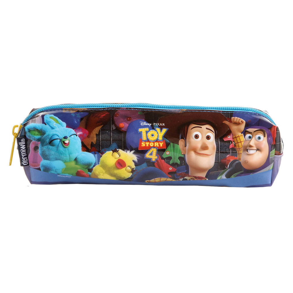Estojo Escolar - Disney - Toy Story 4 - Azul - Dermiwil