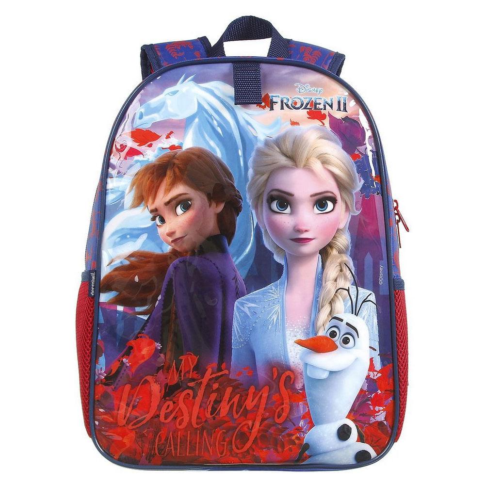 Mochila Infantil - 38Cm - Disney - Frozen 2 - Azul - Dermiwil