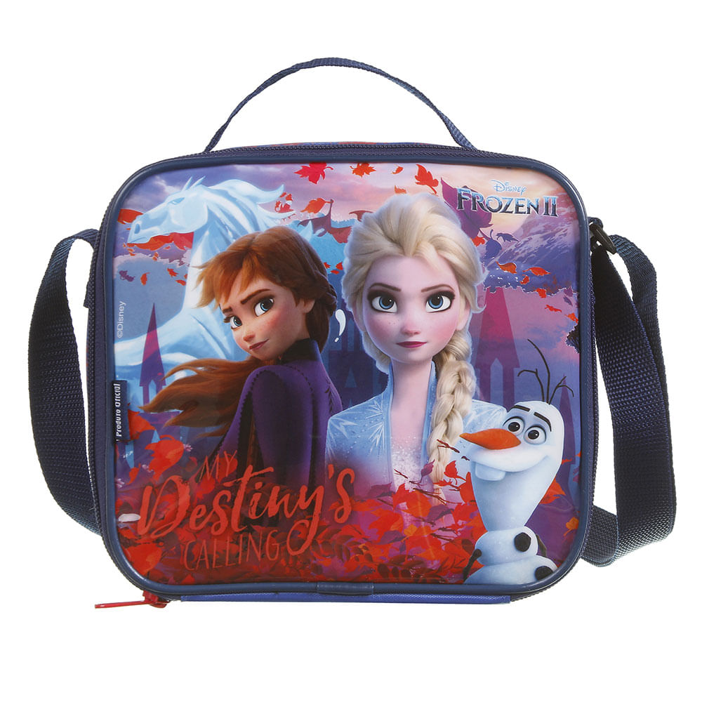 Lancheira Infantil - 22Cm - Disney - Frozen 2 - Azul - Dermiwil