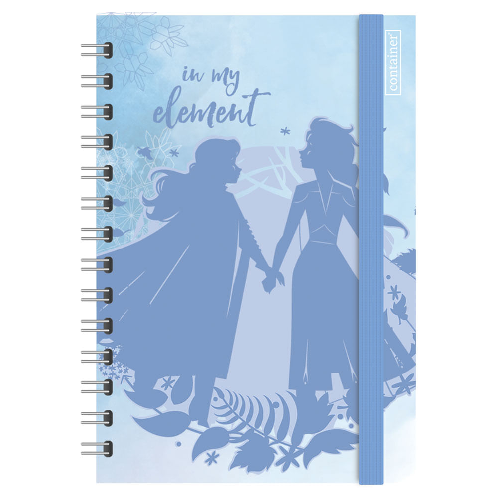 Caderno Espiral Duplo - Bullet Journal - Disney - Frozen 2 - 80 Folhas - Azul - Dermiwil