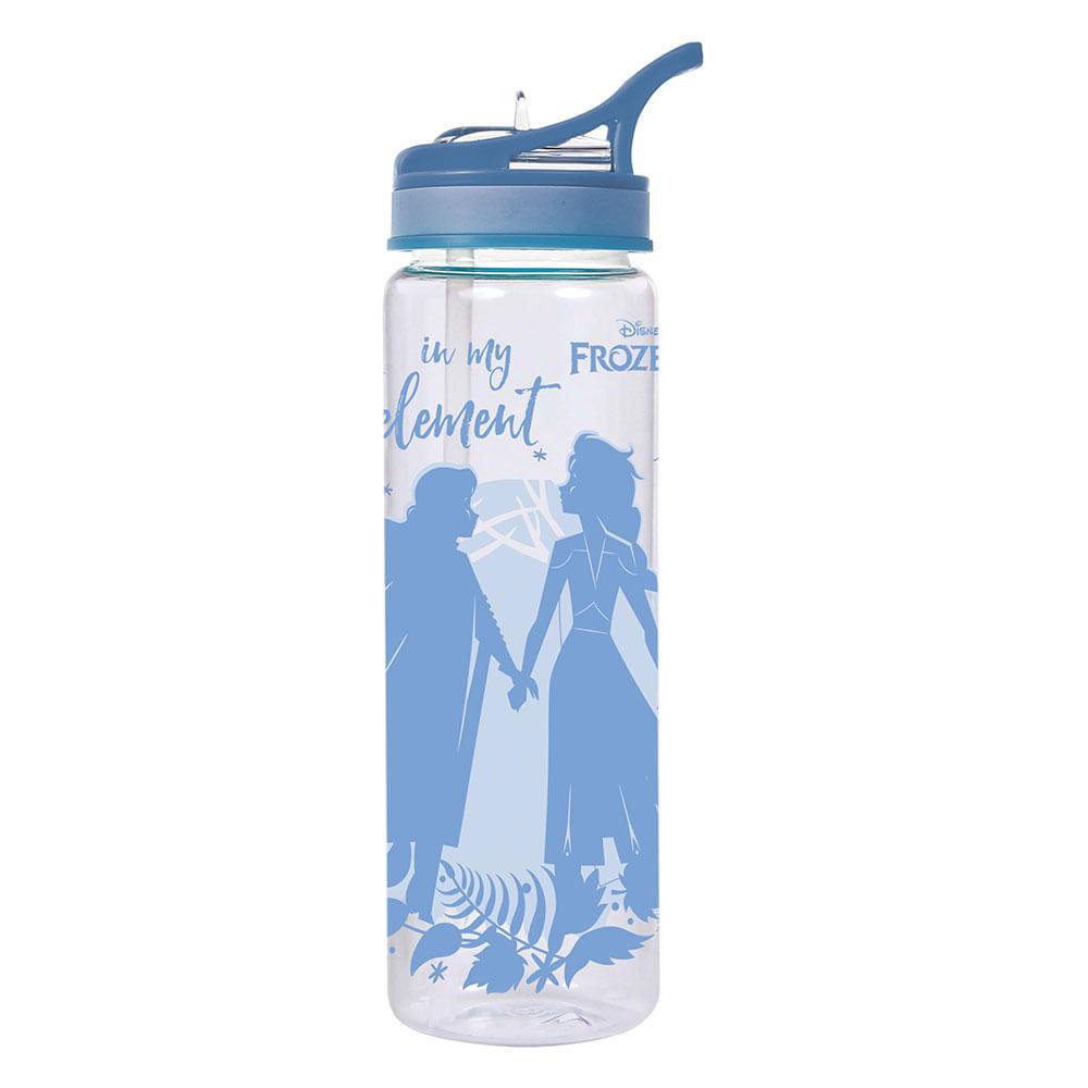 Squeeze com Bico Retrátil - 670ml - Disney - Frozen 2 - Azul - Dermiwil