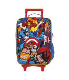 mochila-com-rodinhas-50cm-marvel-vingadores-azul-e-vermelho-dmw-11682_Frente