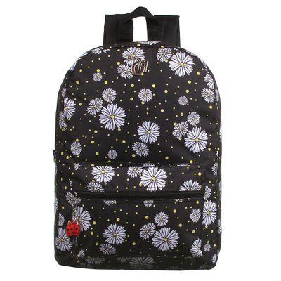 mochila-escolar-40cm-flowers-capricho-preto-dmw-11839_Frente