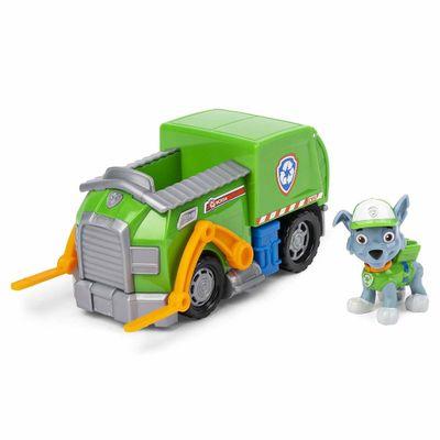 Mini-Figura-e-Veiculo---11Cm---Patrulha-Canina---Chase---Rocky-Recicle-Truck---Sunny_Frente