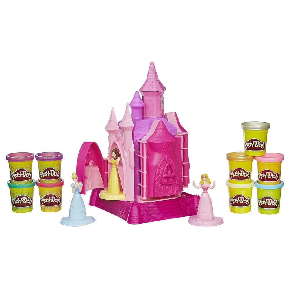 Conjunto Play-Doh - Princesas Disney - Castelo de Princesas - 9 Massinhas - Hasbro