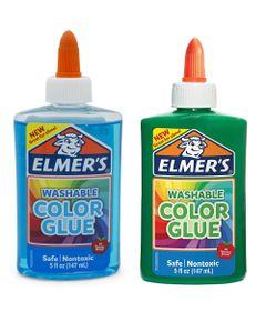 Kit-de-Acessorios-para-Slime---Colas---Colorida-e-Translucida---147-Ml---Azul-e-Verde---Toyng