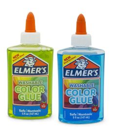 Kit-de-Acessorios-para-Slime---Colas-Translucidas---147-Ml---Verde-e-Azul---Toyng