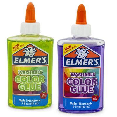 Kit-de-Acessorios-para-Slime---Colas-Translucidas---147-Ml---Verde-e-Roxo---Toyng