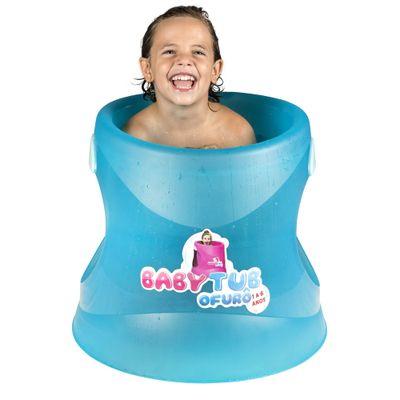Banheira Babytub Ofurô Cristal - 1 a 6 Anos - Azul Translúcido - Baby Tub
