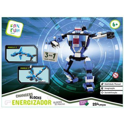 Blocos-de-Montar---204-Pecas---Changers-Blocks---3-em-1---Energizador---FanFun