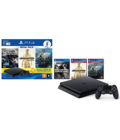 Console---Playstation-4---Slim-Bundle-Hits-V7---1TB-com-5-Jogos---Sony