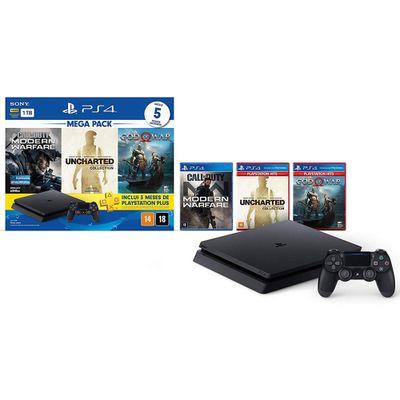 Console---Playstation-4---Slim-Bundle-Hits-V7---1TB-com-5-Jogos---Sony