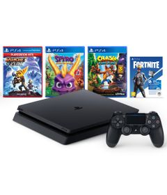 Console---Playstation-4---Slim-Bundle-Hits-V8---Family---1TB---Sony