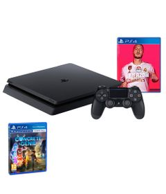 Kit-com-Console---Playstation-4---Slim-Bundle-Hits----1TB---FIFA-2020---Jogo-Concrete-Genie---Sony