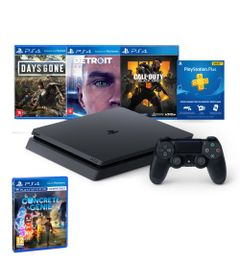 Kit-com-Console---Playstation-4---Slim-Bundle-Hits-5.1---1TB---Jogo-Concrete-Genie---Sony