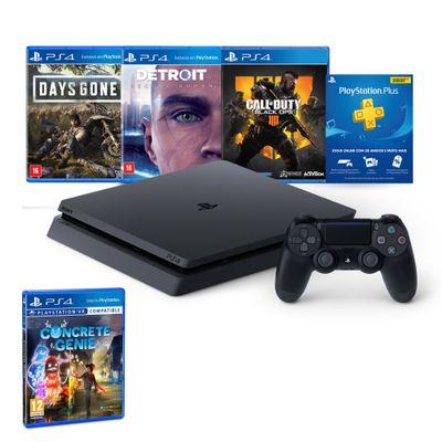 Kit-com-Console---Playstation-4---Slim-Bundle-Hits-5.1---1TB---Jogo-Concrete-Genie---Sony